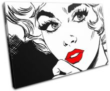 Sexy Popart Lips Illustration - 13-1268(00B)-SG32-LO